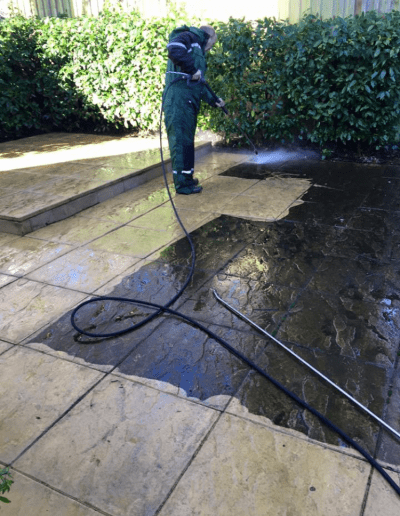 Pressure Washing Floor